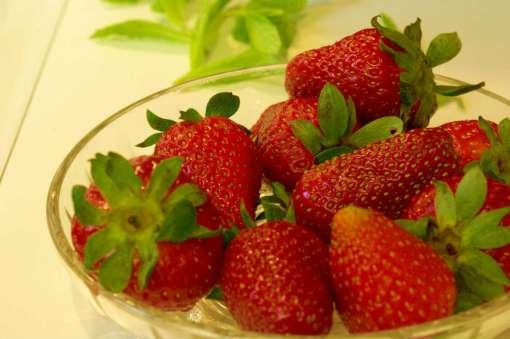 Φρέσκιες φράουλες εποχής.